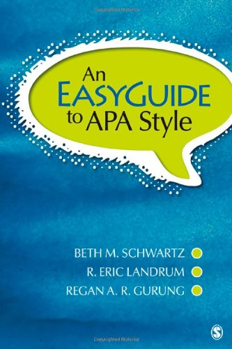 Easyguide to APA Style   2012 edition cover
