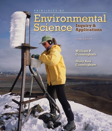 Principles of Environmental Science  6th 2011 edition cover