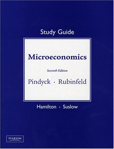 Study Guide for Microeconomics  7th 2009 (Guide (Pupil's)) edition cover