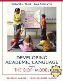 Developing Academic Language with the SIOP Model  N/A 9780137085248 Front Cover