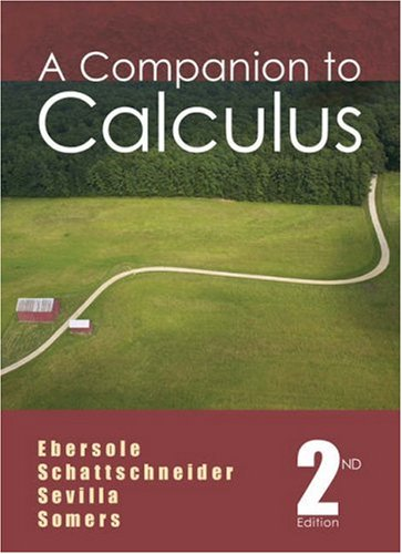 Companion to Calculus  2nd 2006 (Revised) edition cover