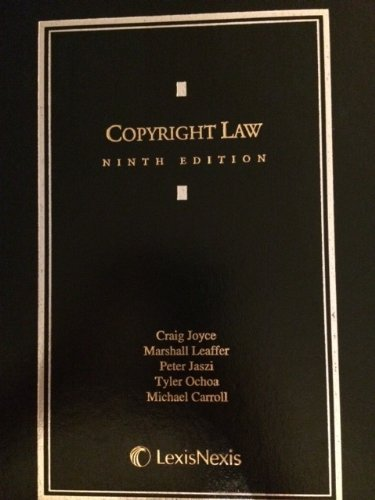 Copyright Law  9th edition cover