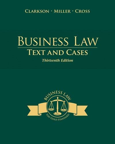 Business Law: Text and Cases  2014 9781285185248 Front Cover