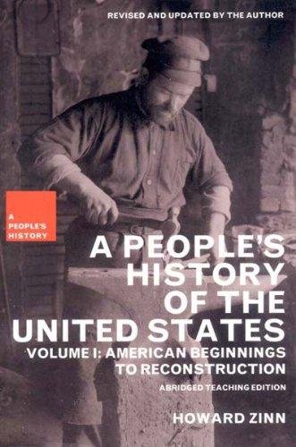 People's History of the United States American Beginnings to Reconstruction  2003 edition cover