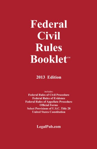 FEDERAL CIVIL RULES BOOKLET 2013        N/A edition cover
