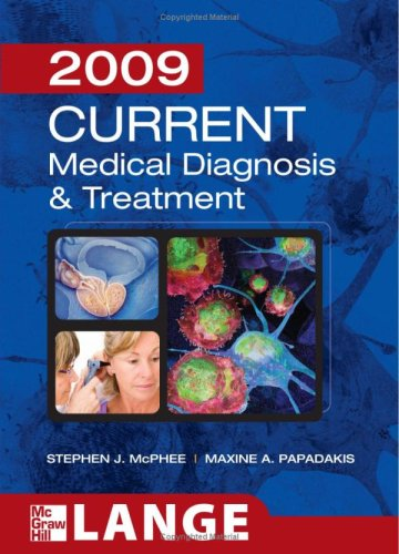 Lange 2009 Current Medical Diagnosis and Treatment  48th 2009 edition cover