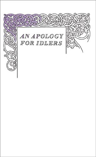 Apology for Idlers  N/A edition cover