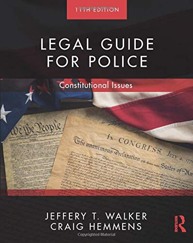 Legal Guide for Police  11th 2019 9780367023249 Front Cover