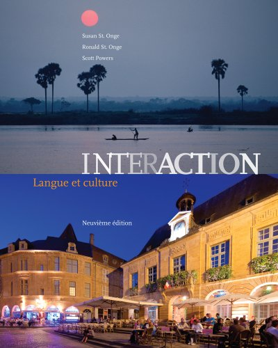 Interaction: Langue Et Culture 9th 2013 9781133311249 Front Cover