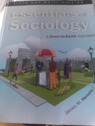ESSENTIALS OF SOCIOLOGY(BLACK+ N/A edition cover