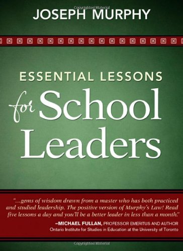 Essential Lessons for School Leaders   2011 edition cover