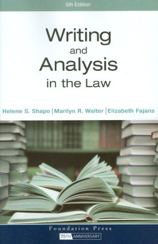 Writing and Analysis in the Law  5th 2008 (Revised) edition cover
