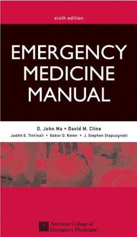 Emergency Medicine Manual  6th 2004 (Revised) edition cover