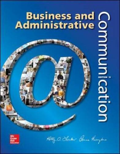 Business and Administrative Communication:   2014 9780073403250 Front Cover