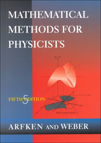 Mathematical Methods for Physicists  5th 2001 9780120598250 Front Cover