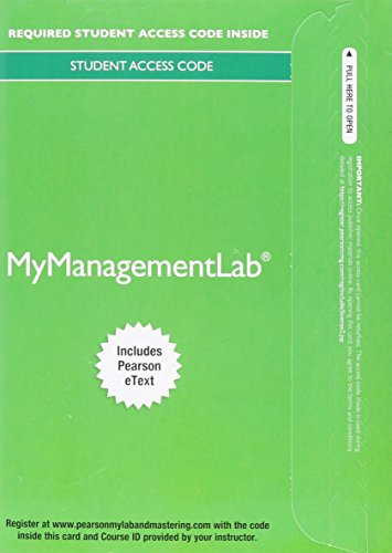 2014 MyManagementLab with Pearson EText -- Access Card -- for Essentials of Organizational Behavior  12th 2014 9780133835250 Front Cover
