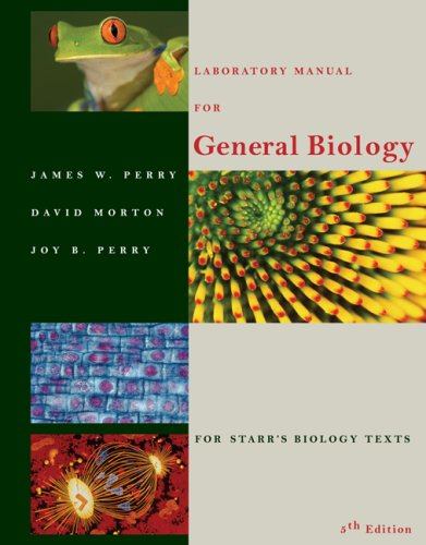 Laboratory Manual for General Biology  5th 2007 (Revised) edition cover