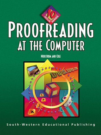 Proofreading at the Computer   2000 9780538689250 Front Cover