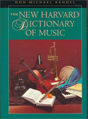 New Harvard Dictionary of Music  3rd 1986 edition cover