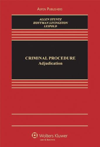 Criminal Procedure Adjudication  2011 edition cover