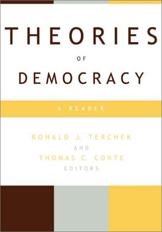 Theories of Democracy A Reader  2001 edition cover