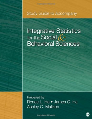 Study Guide to Accompany Integrative Statistics for the Social and Behavioral Sciences   2012 edition cover