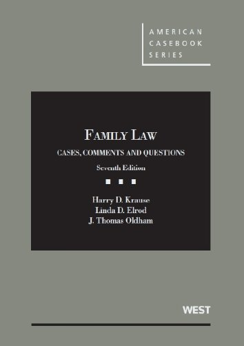 Family Law: Cases  2012 edition cover