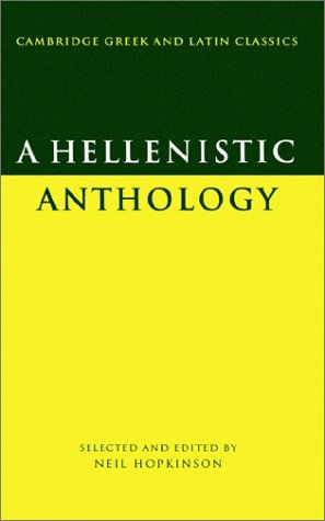 Hellenistic Anthology   1988 9780521314251 Front Cover