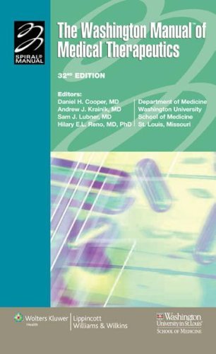 Washington Manual� of Medical Therapeutics  32nd 2007 (Revised) edition cover