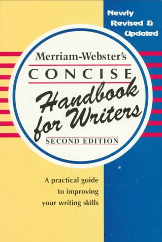 Merriam-Webster's Concise Handbook for Writers  2nd 1998 (Revised) edition cover
