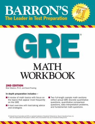 Barron's GRE Math Workbook, 2nd Edition  2nd 2012 (Revised) edition cover