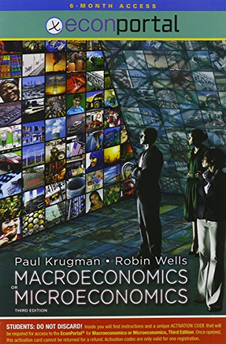 Microeconomics and Macroeconomics Econportal 6-month Access Card:   2012 edition cover
