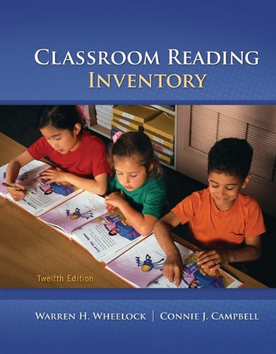 Classroom Reading Inventory  12th 2012 edition cover