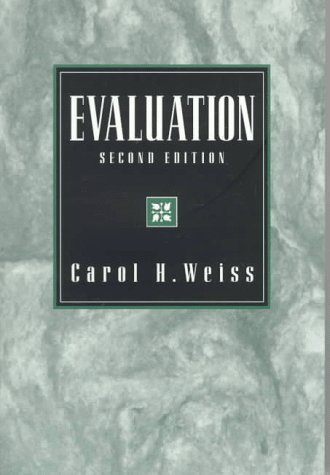 Evaluation  2nd 1998 (Revised) edition cover