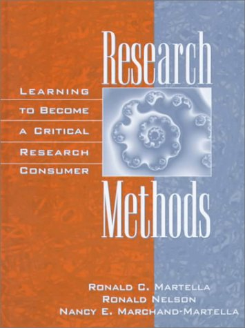 Research Methods Learning to Become a Critical Research Consumer  1999 9780205271252 Front Cover
