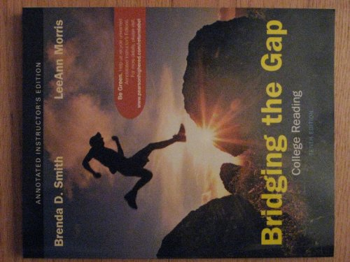 Bridging the Gap College Reading 10th 2011 9780205747252 Front Cover
