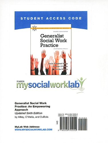 Generalist Social Work Practice Mysocialworklab Student Access Code Card: An Empowering Approach 7th 2010 9780205792252 Front Cover