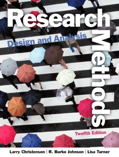 Research Methods, Design, and Analysis  12th 2014 9780205961252 Front Cover