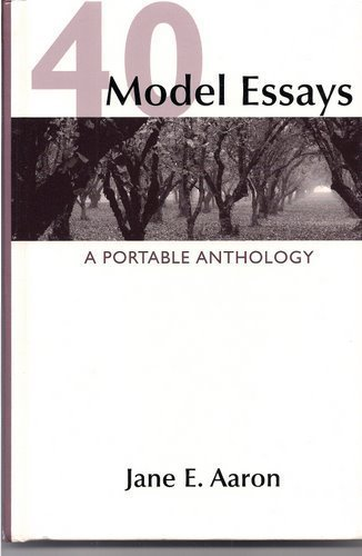 HS 40 Models Essays 1st 9780312443252 Front Cover