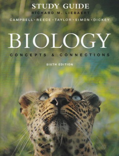 Study Guide for Biology Concepts and Connections 6th 2009 edition cover