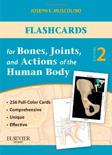 Flashcards for Bones, Joints, and Actions of the Human Body  2nd (Revised) edition cover