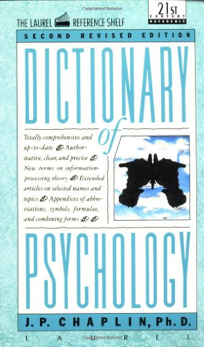 Dictionary of Psychology  2nd (Revised) 9780440319252 Front Cover