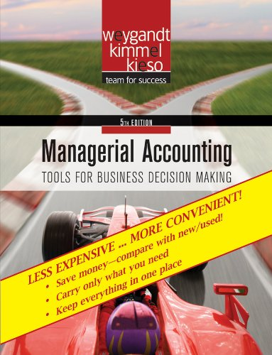 Managerial Accounting Tools for Business Decisionmaking, 5th Edition Binder Ready Version 5th 2010 9780470556252 Front Cover