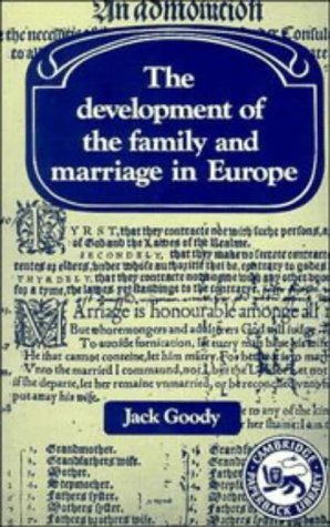Development of the Family and Marriage in Europe   1983 edition cover