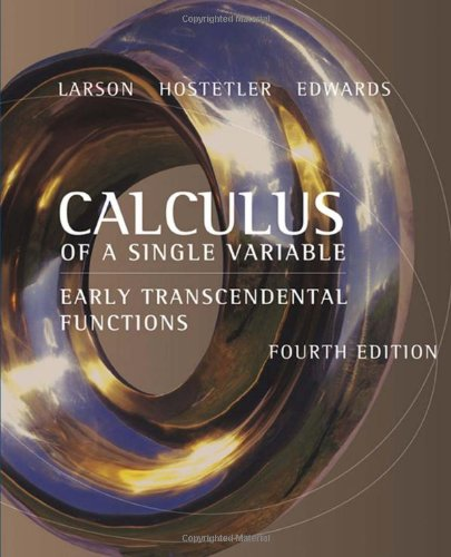 Calculus of a Single Variable Early Transcendental Functions 4th 2007 edition cover