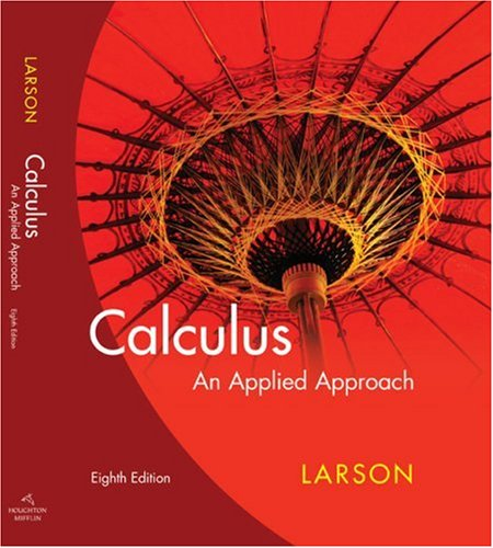 Larson Calculus an Applied Approach Eighth Edition  8th 2009 edition cover