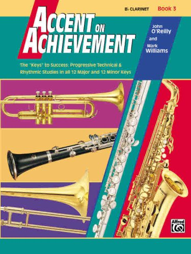 Accent on Achievement, Bk 3 B-Flat Clarinet  1999 edition cover