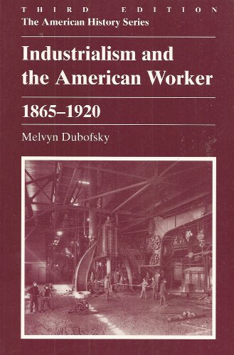 Industrialism and the American Worker, 1865-1920 3rd 1996 (Revised) edition cover