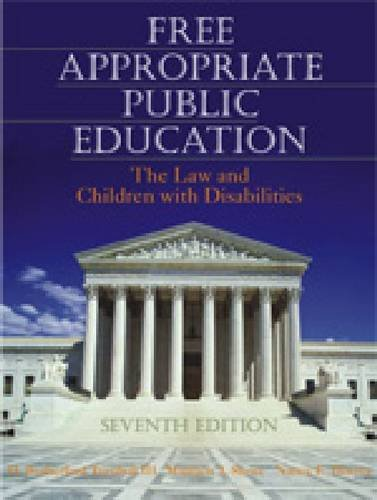 Free Appropriate Public Education The Law and Children with Disabilities 7th 2007 edition cover