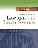 Introduction to Law and the Legal System  11th 2015 edition cover